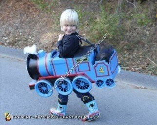 Homemade Gordon the Train Child Halloween Costume Idea
