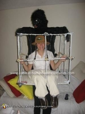 Homemade Gorilla Caged the Zookeeper Costume