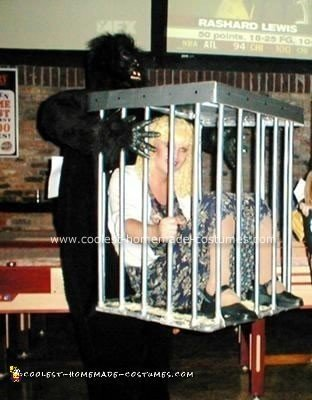 Homemade Gorilla Carrying Girl in Cage Costume