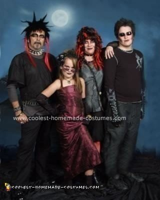 Homemade Goth Family Costumes