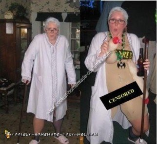Homemade Granny Gone Wild Costume