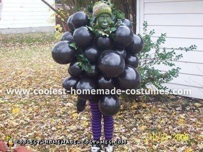 Homemade Grapes Halloween Costume