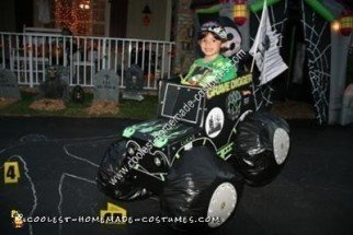 Homemade Grave Digger Monster Truck Halloween Costume Idea