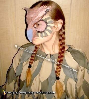 Homemade Great Horned Owl Costume