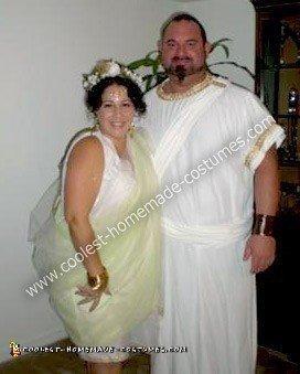 Homemade Greek God and Goddess Couple Costume
