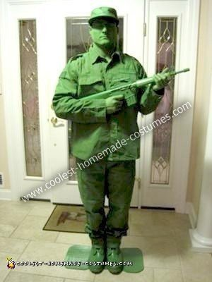Homemade Green Army Man Costume