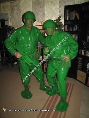 Homemade Green Army Men Halloween Costume Idea