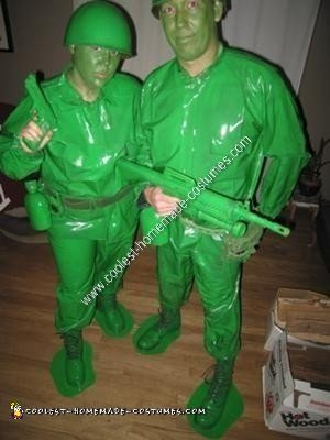 Homemade Green Army Men Halloween Costume Idea