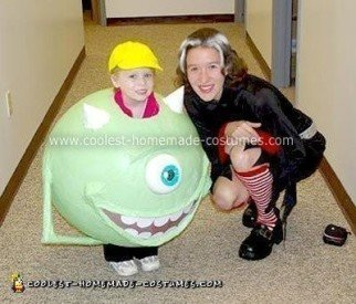 Homemade Green Mike Wazowski Halloween Costume