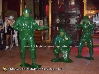 Homemade Green Plastic Army Men Costumes