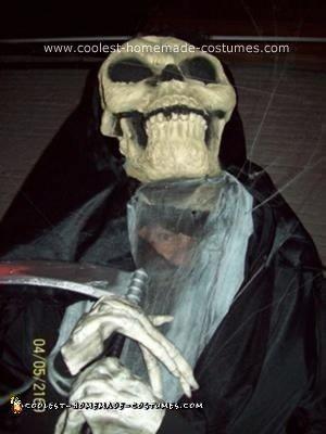 Homemade Grim Reaper on Stilts Costume