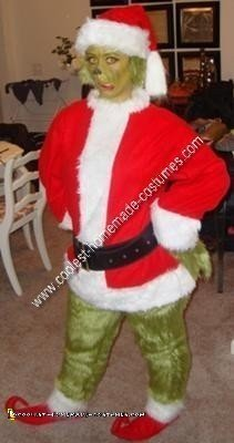 Homemade Grinch Halloween Costume Idea