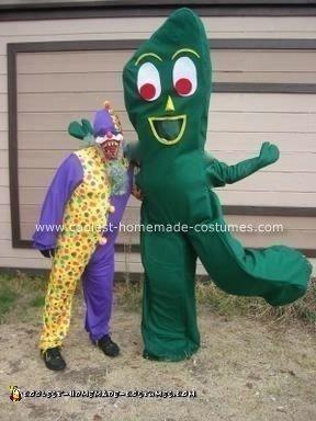 Homemade Gumby Costume