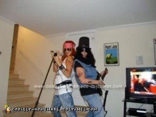 Homemade Guns 'N' Roses Couple Costume