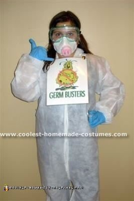 Homemade H1N1 Swine Flu Halloween Costume