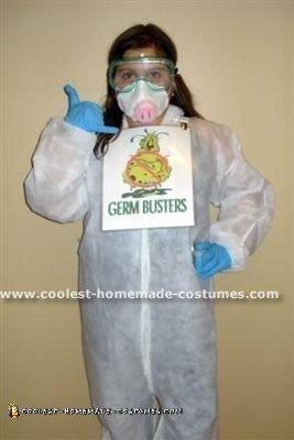 Homemade H1N1 Swine Flu Halloween Costume