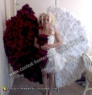 Homemade Half Devil Half Angel Costume