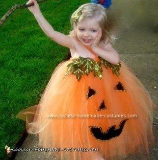 Homemade Halloween Pumpkin Costume