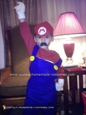 Homemade Halloween Super Mario Costume