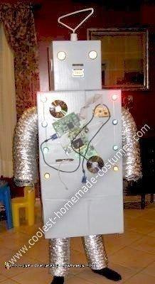 Homemade Halloween TechyBot Robot Costume