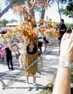 Homemade Halloween Tree Costume