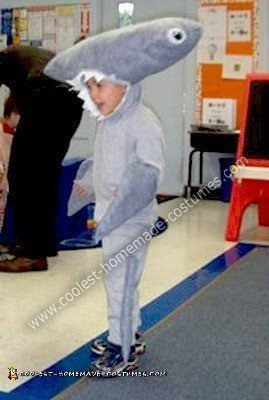 Homemade Hammer Head Shark Costume