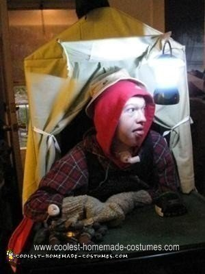 Homemade Happy Camper in a Tent Wheelchair Costume
