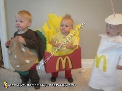 Homemade Happy Meal Triplets Halloween Costume Ideas