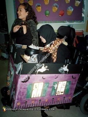 Homemade Haunted House Wheelchair Costume