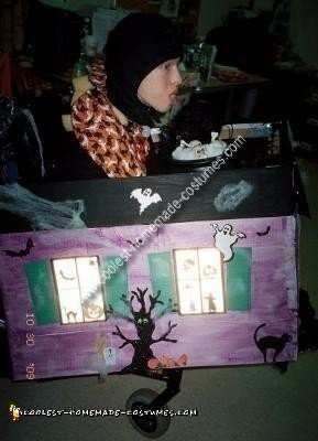 Homemade Haunted House Wheelchair Costume