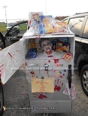Homemade Head in a Freezer Halloween Costume