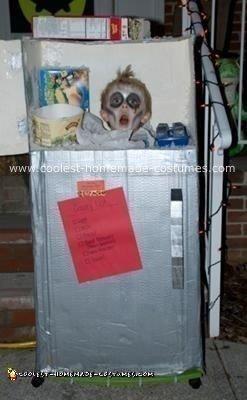 Homemade Head in Freezer Costume