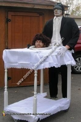 Homemade Head on Platter Optical Illusion Costume