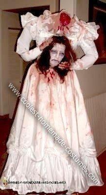 Homemade Headless Bride Costume