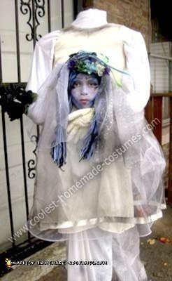 Homemade Headless Corpse Bride Costume