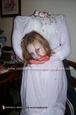 Homemade Headless Girl Costume