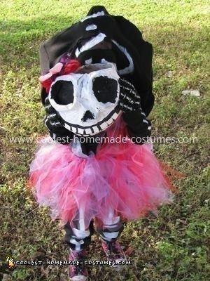 Coolest Homemade Headless Girl Skeleton Costume