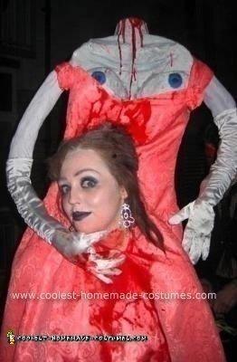 Homemade Headless Marie Antoinette Halloween Costume