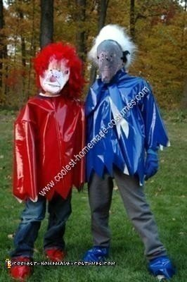 Homemade Heat Miser and Snow Miser Couple Costumes