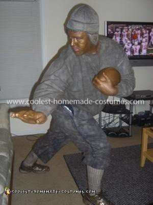 Homemade Heisman Trophy Costume