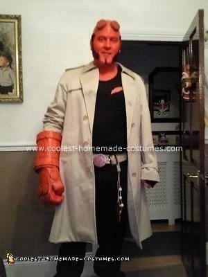 Homemade Hellboy Costume