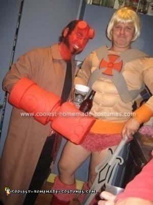 Homemade Hellboy Halloween Costume