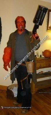 Homemade Hellboy Halloween Costume Idea
