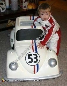 Homemade Herbie the Love Bug Costume