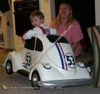 Homemade Herbie the Love Bug Costume