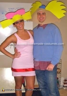 Homemade Hey Arnold Halloween Couple Costume