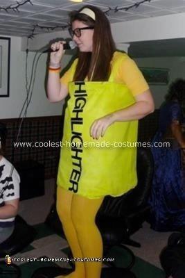 Homemade Highlighter Costume