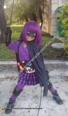 Homemade Hit Girl Halloween Costume Idea