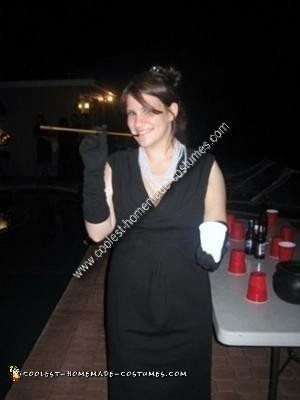 Homemade Holly Golightly from Breakfast at Tiffany's Costume
