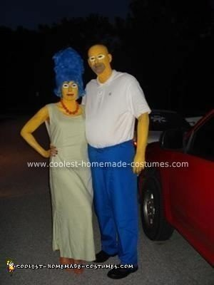 Homemade Homer and Marge Simpson Couple Costume